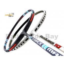 2 Pieces Deal: Apacs Force II Max Dark Grey + Apacs EdgeSaber 10 White Badminton Racket