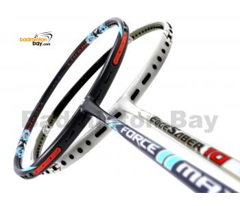 2 Pieces Deal: Apacs Force II Max Dark Grey + Apacs EdgeSaber 10 White Badminton Racket