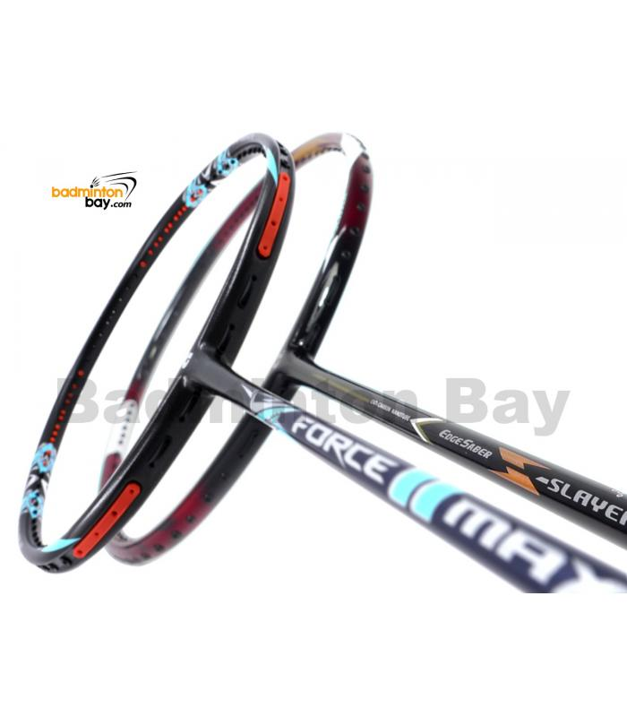 2 Pieces Deal: Apacs Force II Max Dark Grey + Apacs EdgeSaber Z Slayer Badminton Racket
