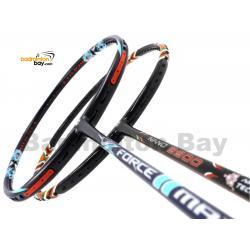 2 Pieces Deal: Apacs Force II Max Dark Grey + ApacsNano 9900Badminton Racket