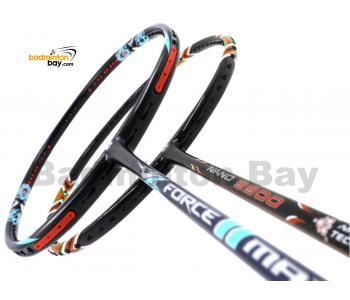 2 Pieces Deal: Apacs Force II Max Dark Grey + Apacs Nano 9900 Badminton Racket
