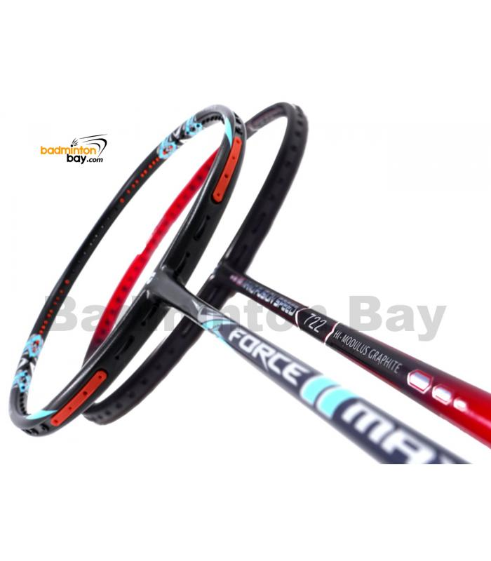 2 Pieces Deal: Apacs Force II Max Dark Grey + ApacsNano Fusion Speed 722 RedBadminton Racket