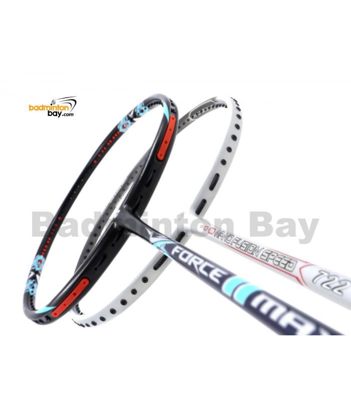 2 Pieces Deal: Apacs Force II Max Dark Grey + Apacs Nano Fusion Speed 722 White Badminton Racket