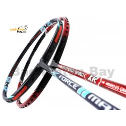 2 Pieces Deal: Apacs Force II Max Dark Grey + Apacs Nano Fusion Speed XR Black Red Badminton Racket