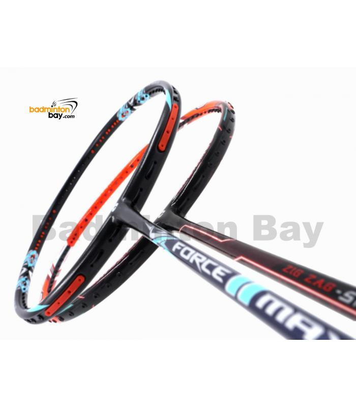 2 Pieces Deal: Apacs Force II Max Dark Grey + Apacs Zig Zag Speed III Prime Badminton Racket