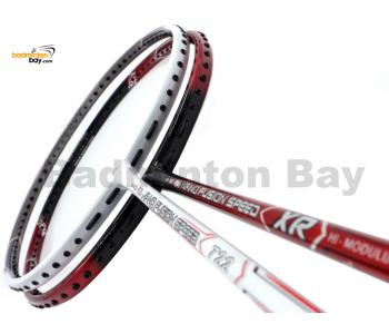 2 Pieces Deal: Apacs Nano Fusion Speed XR Black Red + Apacs Nano Fusion Speed 722 White Badminton Racket