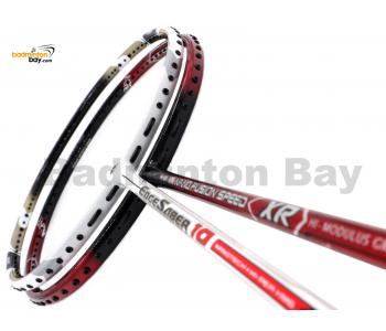 2 Pieces Deal: Apacs Nano Fusion Speed XR Black Red + Apacs Edgesaber 10 White Badminton Racket