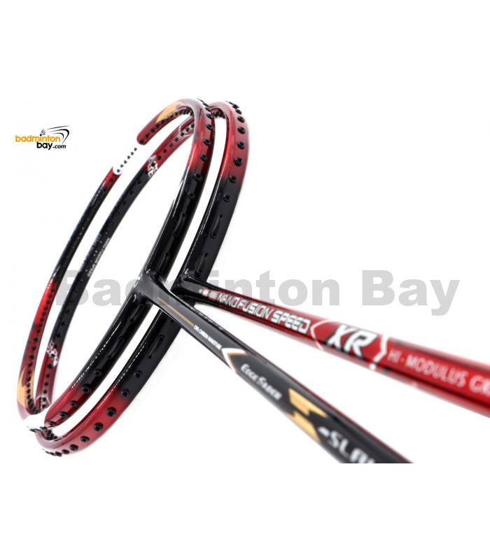 2 Pieces Deal: Apacs Nano Fusion Speed XR Black Red + Apacs Edgesaber Z Slayer Badminton Racket