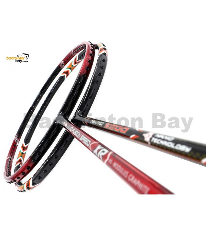 2 Pieces Deal: Apacs Nano Fusion Speed XR Black Red + Apacs Nano 9900 Badminton Racket