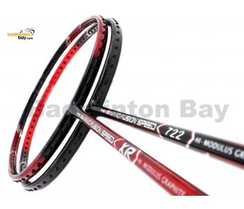 2 Pieces Deal: Apacs Nano Fusion Speed XR Black Red + Apacs Nano Fusion Speed 722 Red Badminton Racket