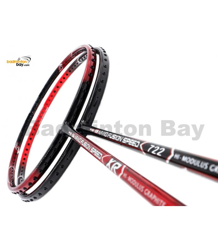 2 Pieces Deal: Apacs Nano Fusion Speed XR Black Red + Apacs Nano Fusion Speed 722 Red Badminton Racket