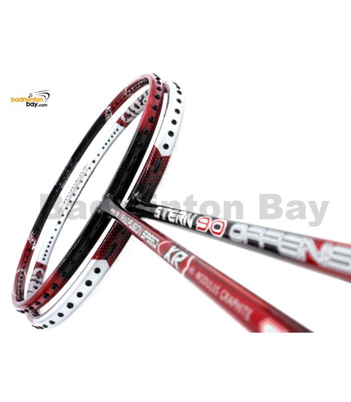 2 Pieces Deal: Apacs Nano Fusion Speed XR Black Red + Apacs Stern 90 Offensive Badminton Racket