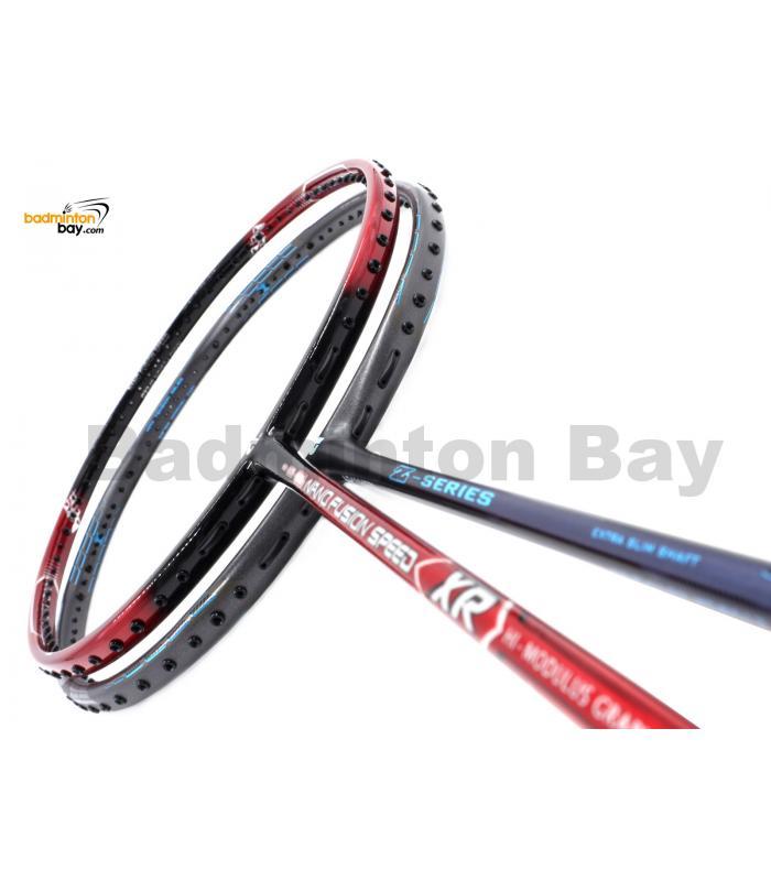 2 Pieces Deal: Apacs Nano Fusion Speed XR Black Red + Apacs Z Series Badminton Racket