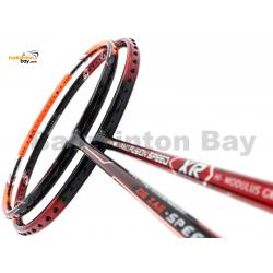 2 Pieces Deal: Apacs Nano Fusion Speed XR Black Red + Apacs Zig Zag Speed III Prime Badminton Racket