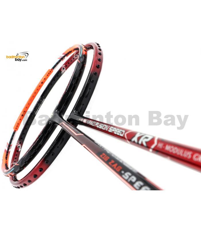 2 Pieces Deal: Apacs Nano Fusion Speed XR Black Red + Apacs Zig Zag Speed III Prime Badminton Racket