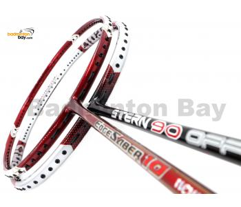 2 Pieces Deal: Apacs Stern 90 Offensive + Apacs Edgesaber 10 Red Badminton Racket
