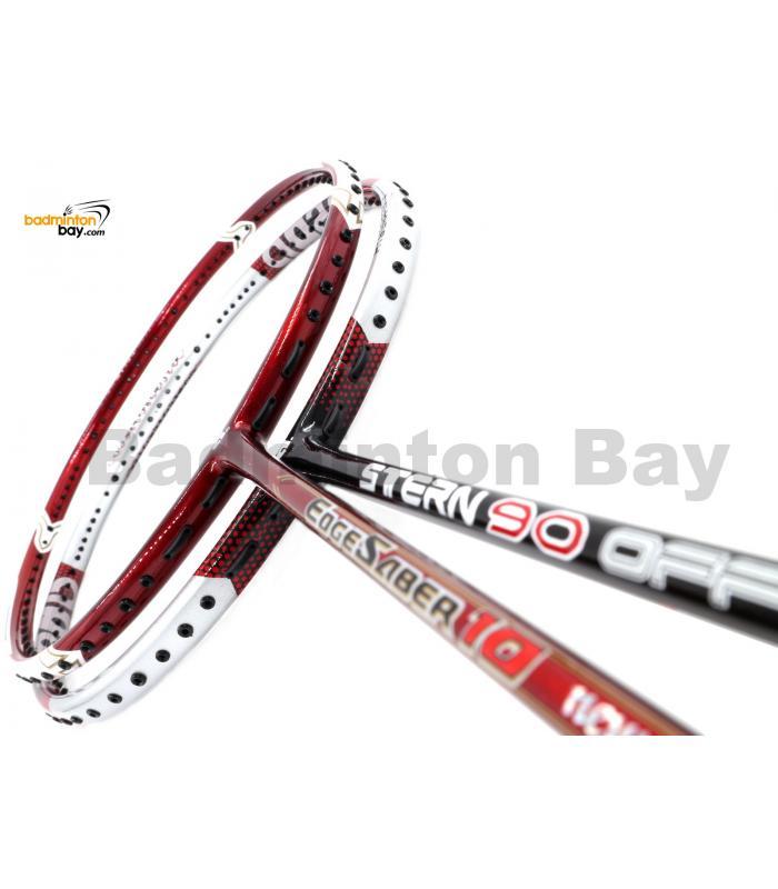 2 Pieces Deal: Apacs Stern 90 Offensive + Apacs Edgesaber 10 Red Badminton Racket