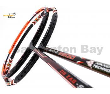 2 Pieces Deal: Apacs Zig Zag Speed III Prime + Apacs Nano 9900 Badminton Racket