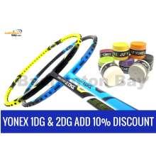 Yonex Voltric 1DG Durable Grade 3UG5 + Yonex Voltric 2DG Durable Grade 3UG5 + 8 pieces Yonex AC102 Overgrips