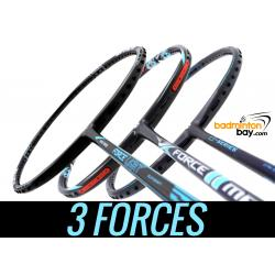 Staff Picks 3-FORCES : 3 Rackets - Abroz Nano Power Force Light, Apacs Z Series Force II & Apacs Force II Max Badminton Rackets