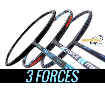 Staff Picks 3-FORCES : 3 Rackets - Abroz Nano Power Force Light, Apacs Z Series Force II & Apacs Force II Max Badminton Rackets
