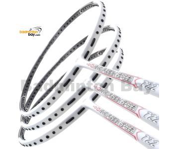 3 Pieces Rackets - Apacs Nano Fusion 722 Speed White (6U) Badminton Racket