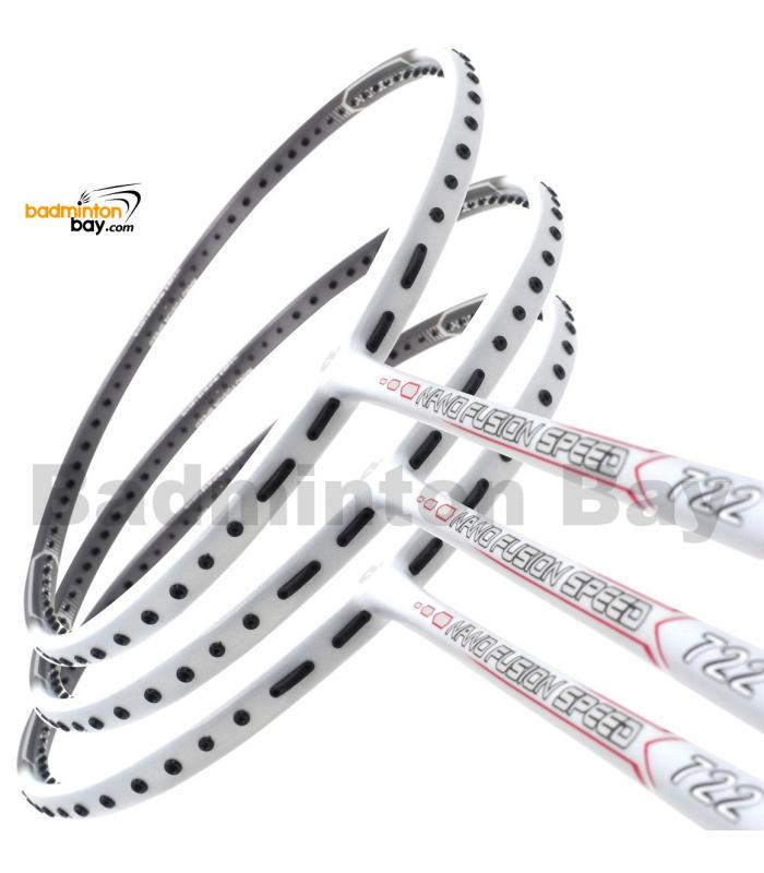3 Pieces Rackets - Apacs Nano Fusion 722 Speed White (6U) Badminton Racket