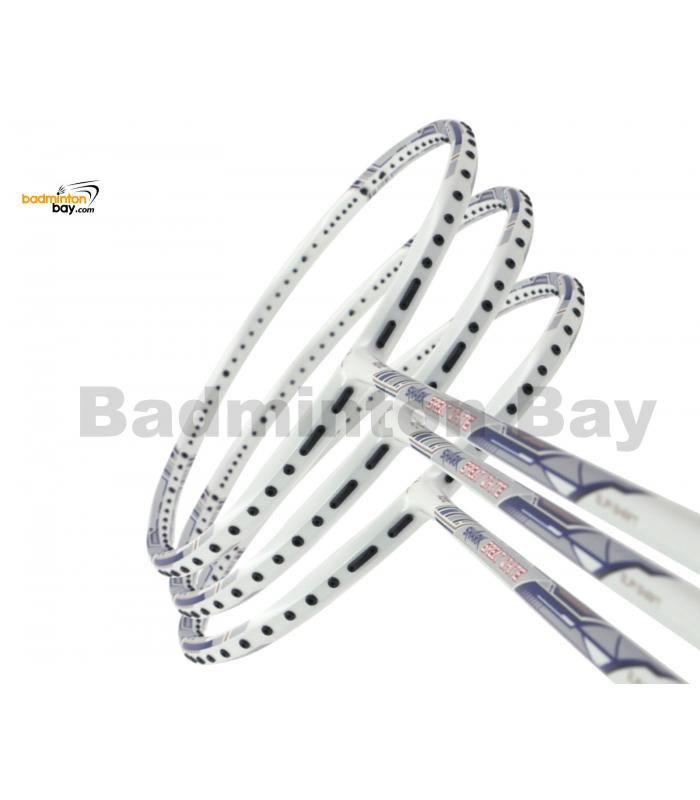 3 Pieces Rackets - Abroz Shark Great White Badminton Racket (6U) Badminton Racket