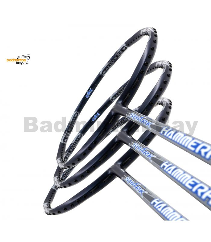 3 Pieces Rackets - Abroz Shark Hammerhead Badminton Racket (6U) Badminton Racket