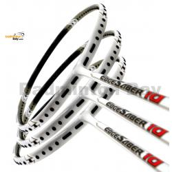 3 Pieces Rackets - Apacs EdgeSaber 10 (White) Badminton Racket