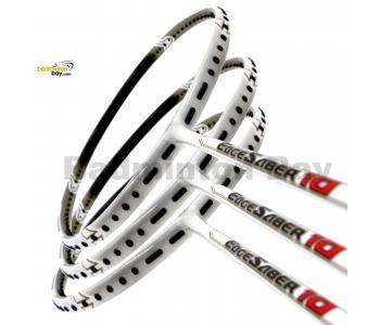 3 Pieces Rackets - Apacs EdgeSaber 10 (White) Badminton Racket
