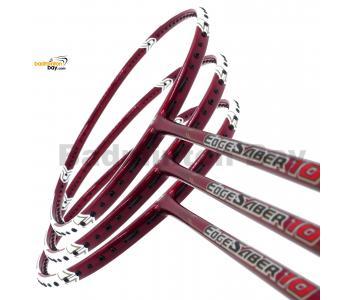 3 Pieces Rackets - Apacs EdgeSaber 10 (Red) Badminton Racket