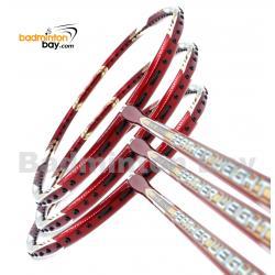 3 Pieces Rackets - Apacs Feather Weight X II Red Gold Badminton Racket (8U) Worlds Lightest Badminton Racket