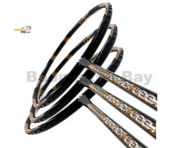 40% OFF LIMITED TIME  UNSTRUNG 3 Pieces Rackets - Apacs Feather Weight X SPECIAL (XS) Black Gold Badminton Racket (8U) Worlds Lightest
