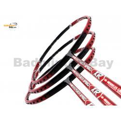 40% OFF LIMITED TIME UNSTRUNG 3 Pieces Rackets -  Apacs Nano Fusion Speed XR Red Black (6U) Badminton Racket