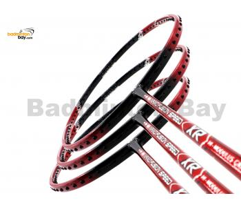 3 Pieces Rackets - Apacs Nano Fusion Speed XR Red Black (6U) Badminton Racket