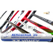 Staff Picks For The All-Rounders : 1 Tube Yonex AS30 Shuttlecocks + 4 Rackets - Apacs Nano 9900, Apacs Virtuoso Light Red, Apacs Lethal 10 Yellow Grey, Apacs Lethal 6 Badminton Racket