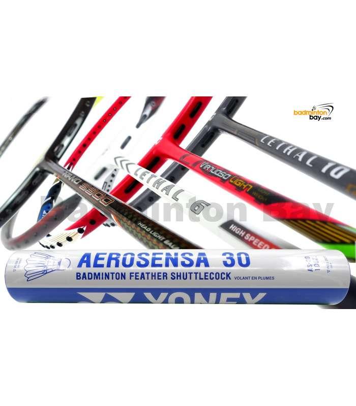 Staff Picks For The All-Rounders : 1 Tube Yonex AS30 Shuttlecocks + 4 Rackets - Apacs Nano 9900, Apacs Virtuoso Light Red, Apacs Lethal 10 Yellow Grey, Apacs Lethal 6 Badminton Racket