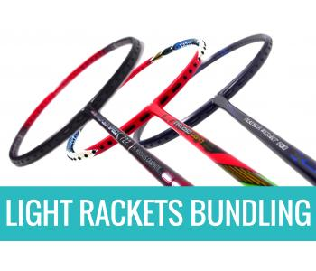 Staff Picks Light Rackets Bundling : 3 Rackets - Apacs Feather Weight 500, Apacs Nano Fusion Speed 722 Red & Apacs Virtuoso Light Red