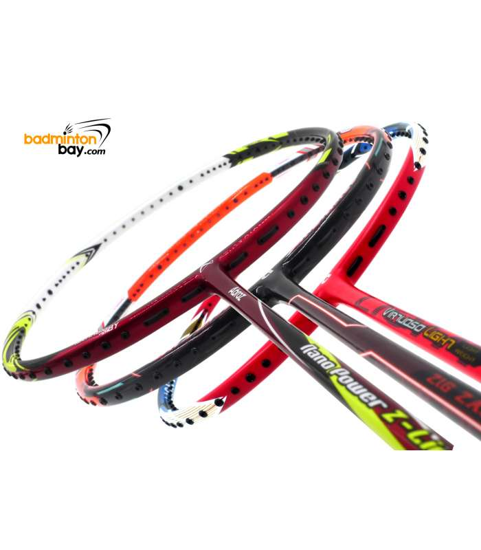 Staff Picks 6 : 3 Rackets - Apacs Virtuoso Light Red, Abroz Nano Power Z-Light, Apacs Zig Zag III Orange (Prime Version)