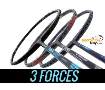 Staff Picks 3-Forces : 3 Rackets - Abroz Nano Power Force Light, Apacs Z Series Force II & Apacs Z Ziggler Force II Badminton Rackets
