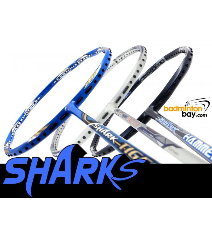 Staff Picks SHARKS : 3 Rackets - Abroz Shark Tiger, Abroz Shark Great White, Abroz Shark Hammerhead (6U)