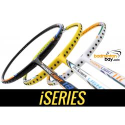 Staff Picks iSeries : 3 Rackets - Yonex Arcsaber Light 10i, Nanoray Light 11i & Nanoray Light 18i iSeries (5U-G5) Badminton Rackets