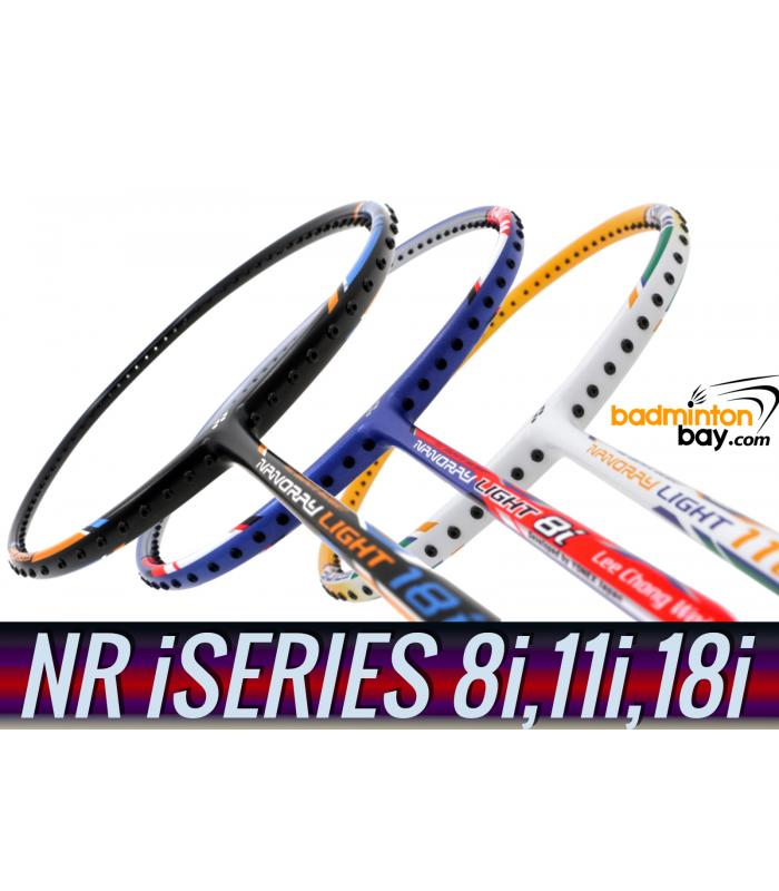 Staff Picks iSeries : 3 Rackets - Yonex Nanoray Light 8i, Nanoray Light 11i & Nanoray Light 18i iSeries (5U-G5) Badminton Racket