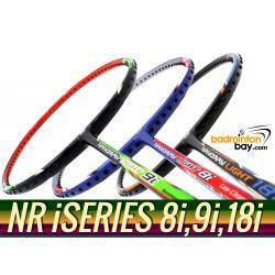 Staff Picks iSeries : 3 Rackets - Yonex Nanoray Light 8i, Nanoray Light 9i & Nanoray Light 18i iSeries (5U-G5) Badminton Racket