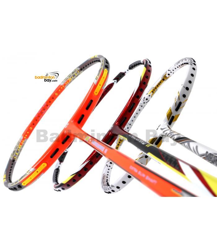 Staff Picks Vanguard2  : 3 Rackets - Apacs Z Vanguard II (Compact Frame), Apacs Vanguard 11 Red White & Apacs Vanguard 88 White Badminton Racket