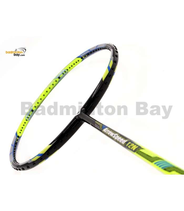 Victor Arrow Speed 12N Black Lime Green Badminton Racket (4U-G5)