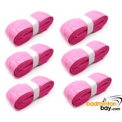 PINK Limited Edition Abroz Hyper PU Replacement Grip (6 Pieces) for Badminton Squash Tennis Racket AZ-PU111