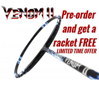 Coming Soon, Pre-order Available: Abroz Nano Power Venom II Badminton Racket (6U) With Free Racket