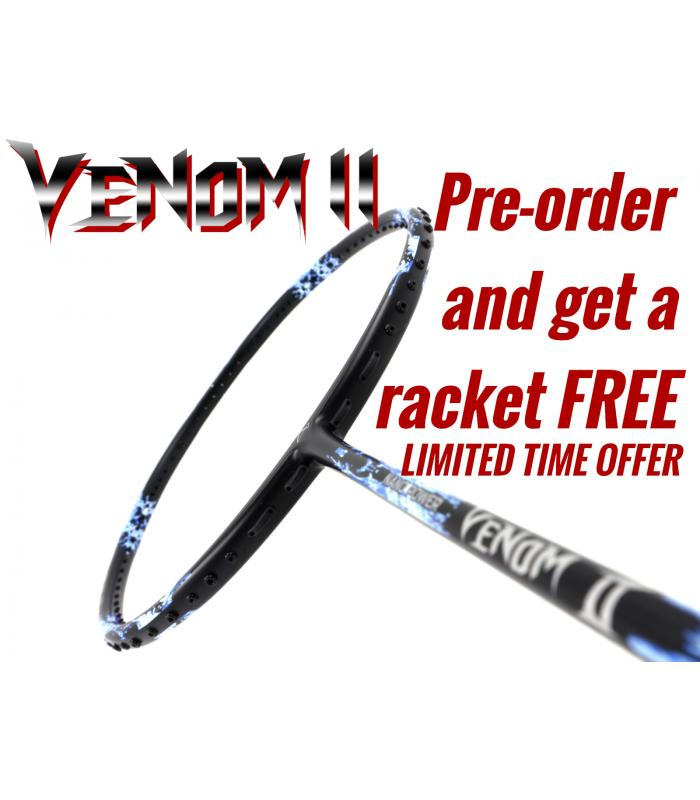 Coming Soon, Pre-order Available: Abroz Nano Power Venom II Badminton Racket (6U) With Free Racket
